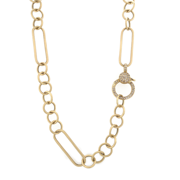 Yellow Gold Paperclip Chain - Lesley Ann Jewels