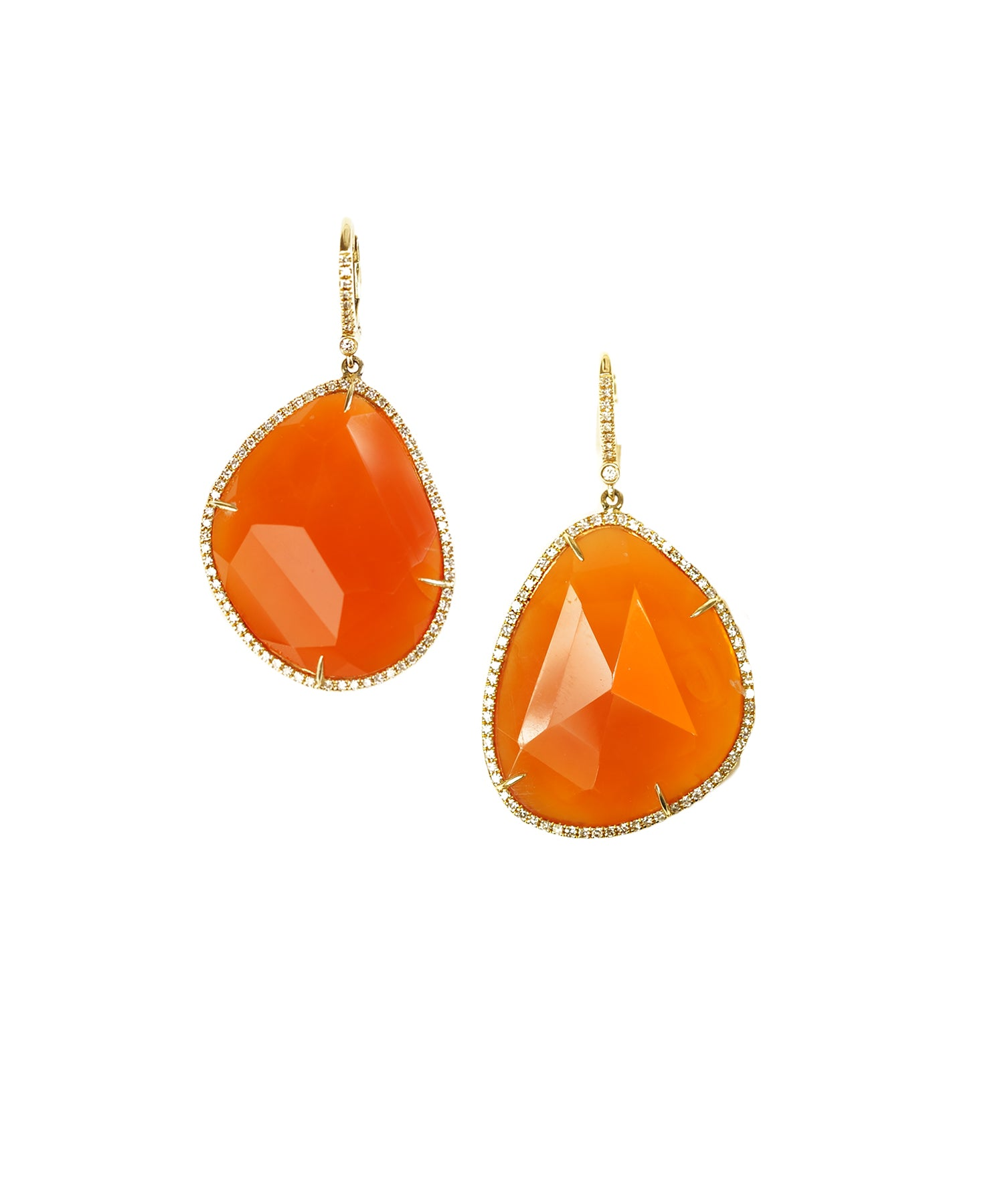 yellow with earrings tw gold carnelian in diamonds dabakarov