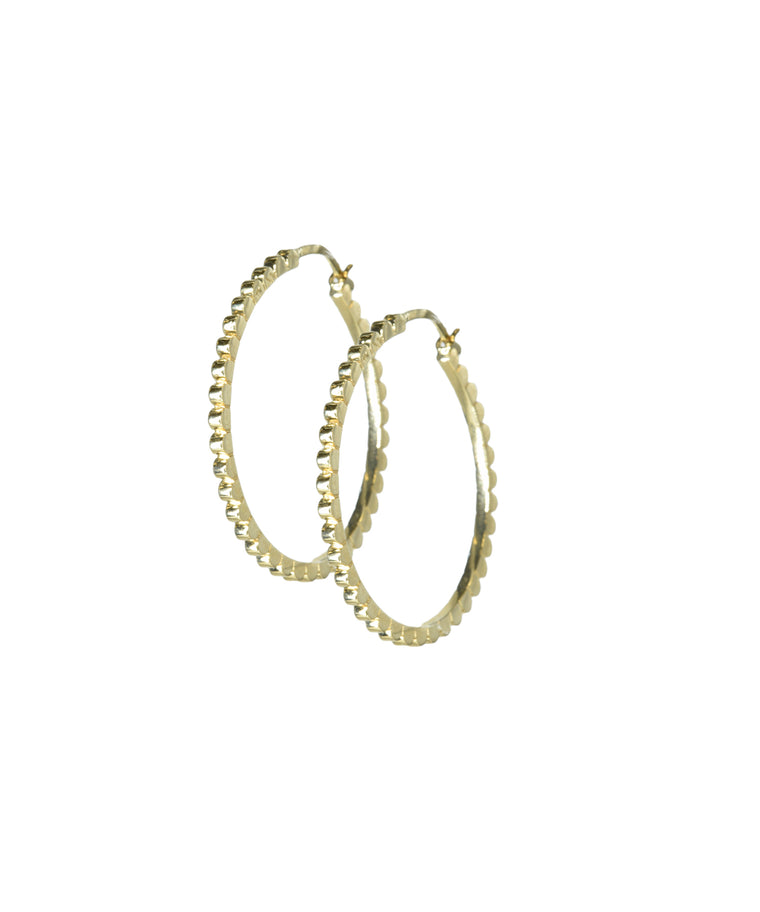 Daisy Hoop Earrings - Lesley Ann Jewels