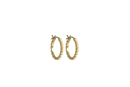 Yellow gold small Daisy hoops