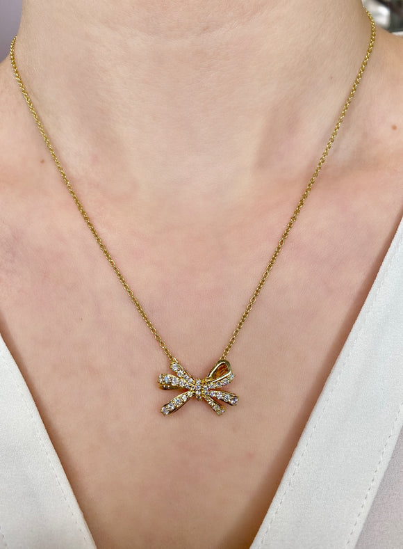 Double loop bow necklace - Lesley Ann Jewels