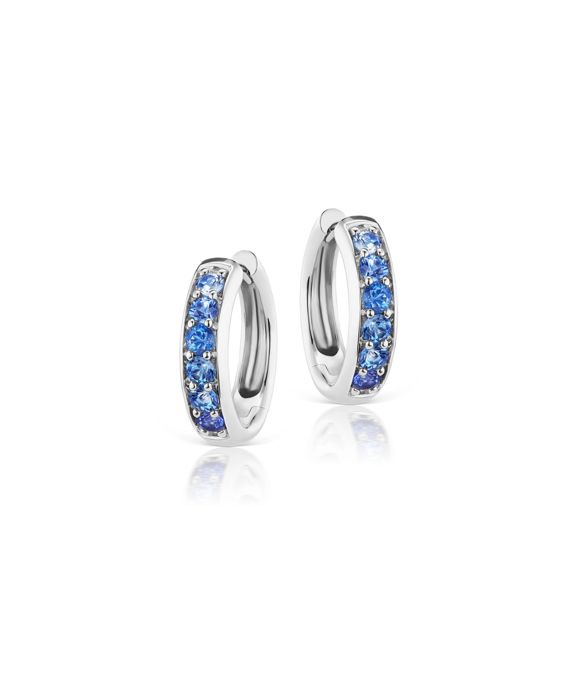 Cirque chubby hoops with gradated  sapphires