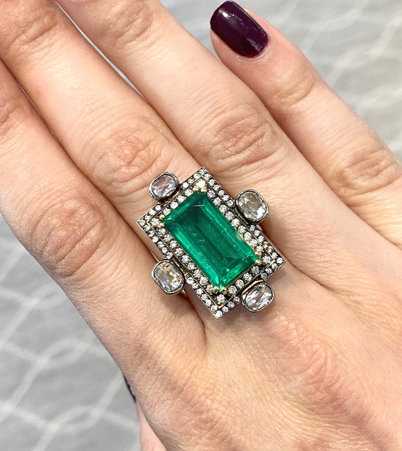 Green beryl ring - Lesley Ann Jewels