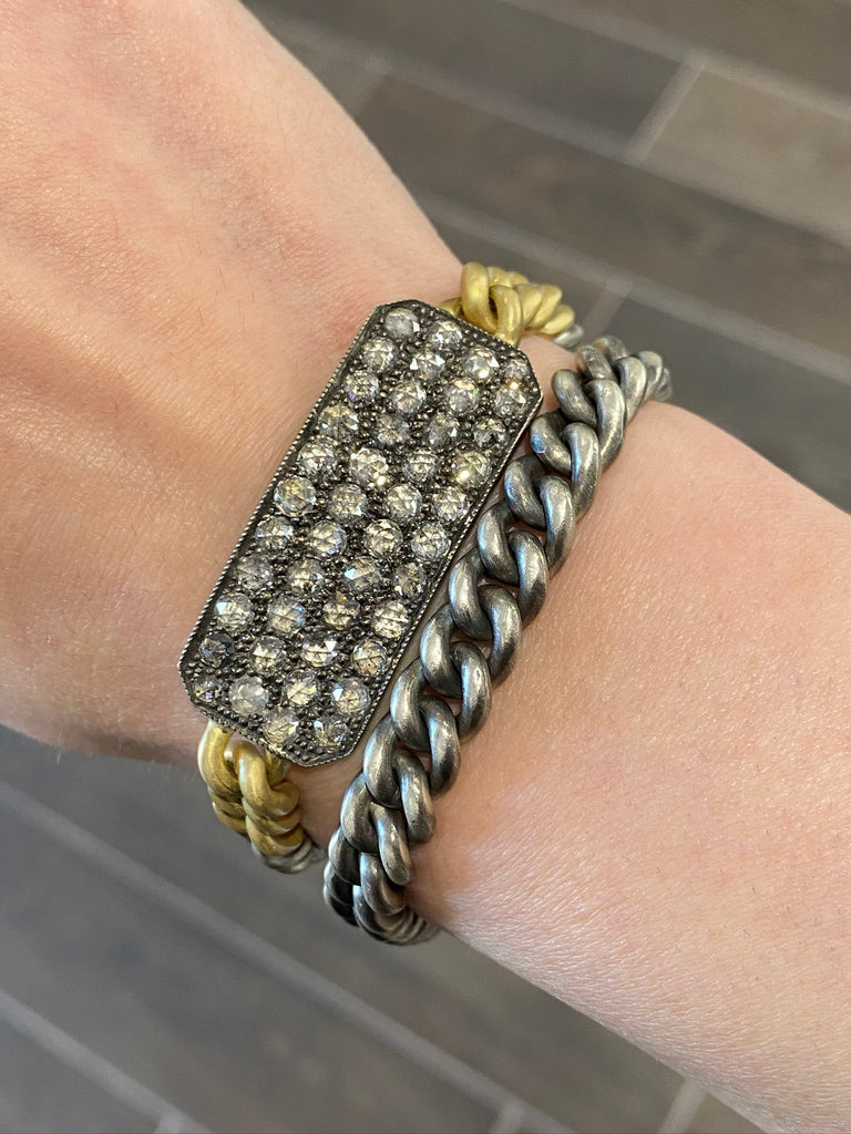 Grey Diamond Ten Table Wrap Bracelet