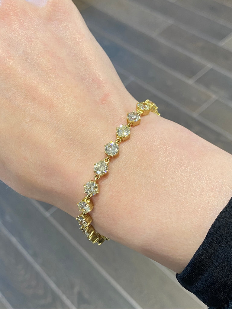 Diamond Line Bracelet - Lesley Ann Jewels