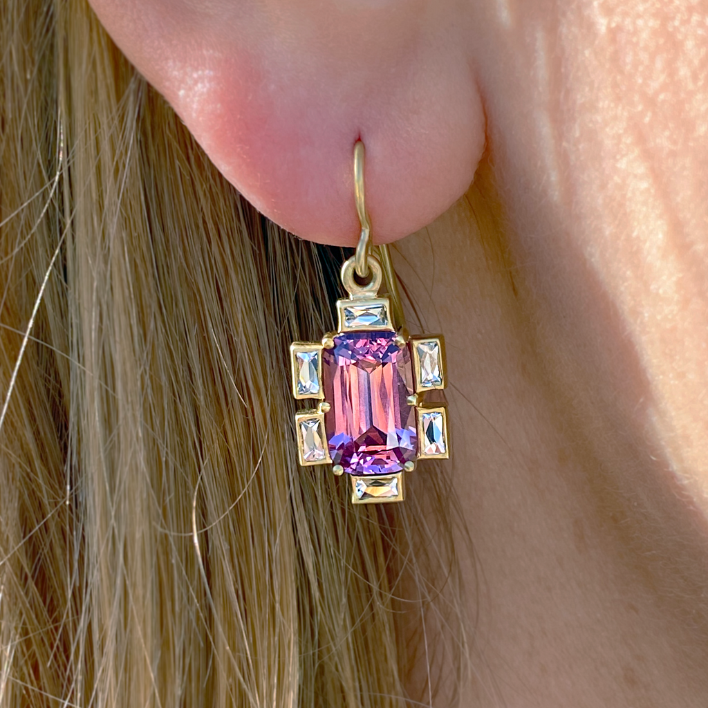 Pink Spinel Earrings - Lesley Ann Jewels
