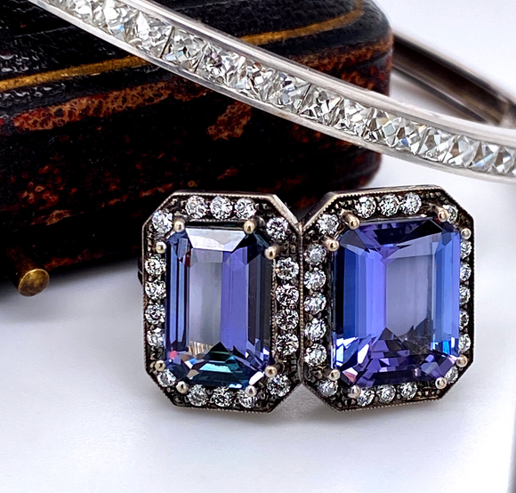 Double Tanzanite Ring