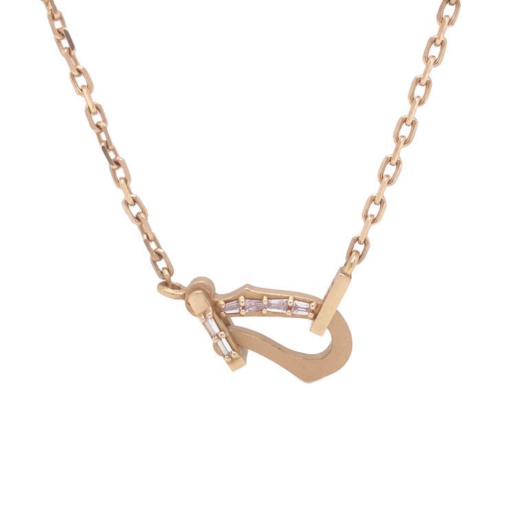 Mini Baguette Loop Necklace - Lesley Ann Jewels
