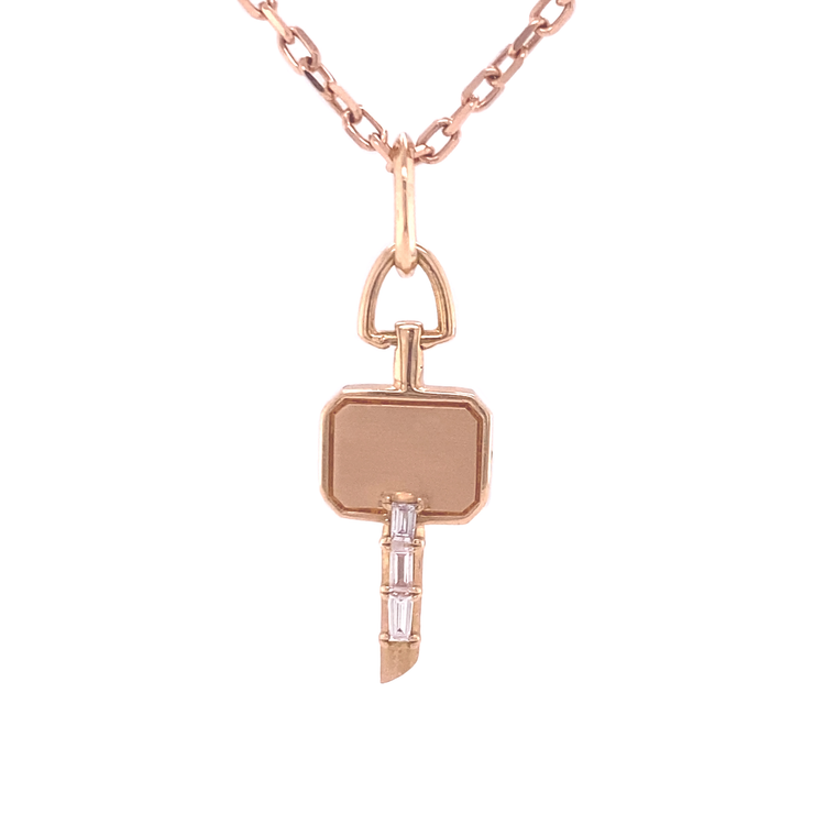 Mini Catherin Key Charm Necklace - Lesley Ann Jewels