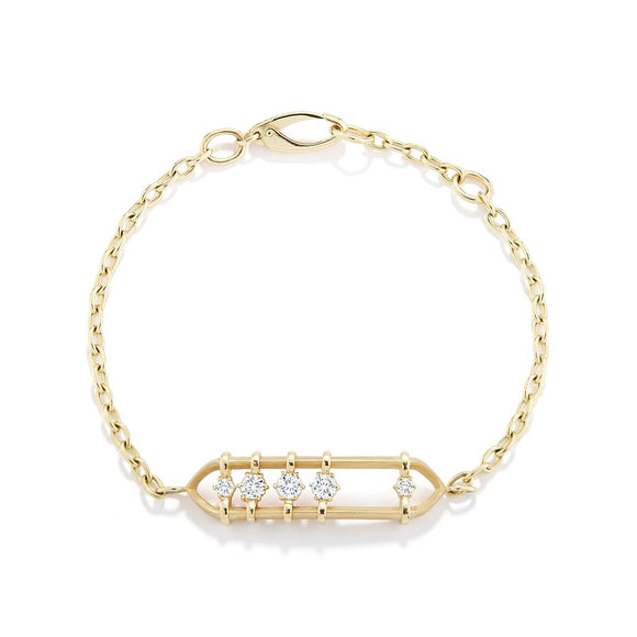 Floating diamond bracelet