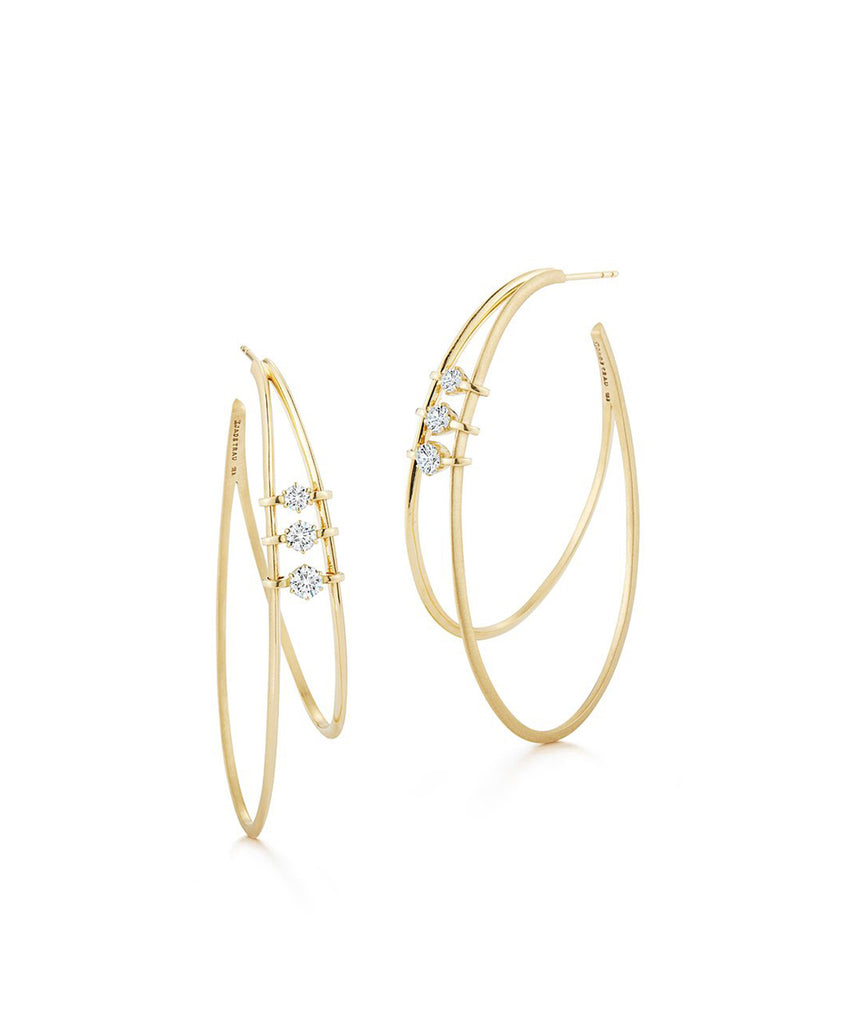 Penelope Double Hoop Earrings - Lesley Ann Jewels