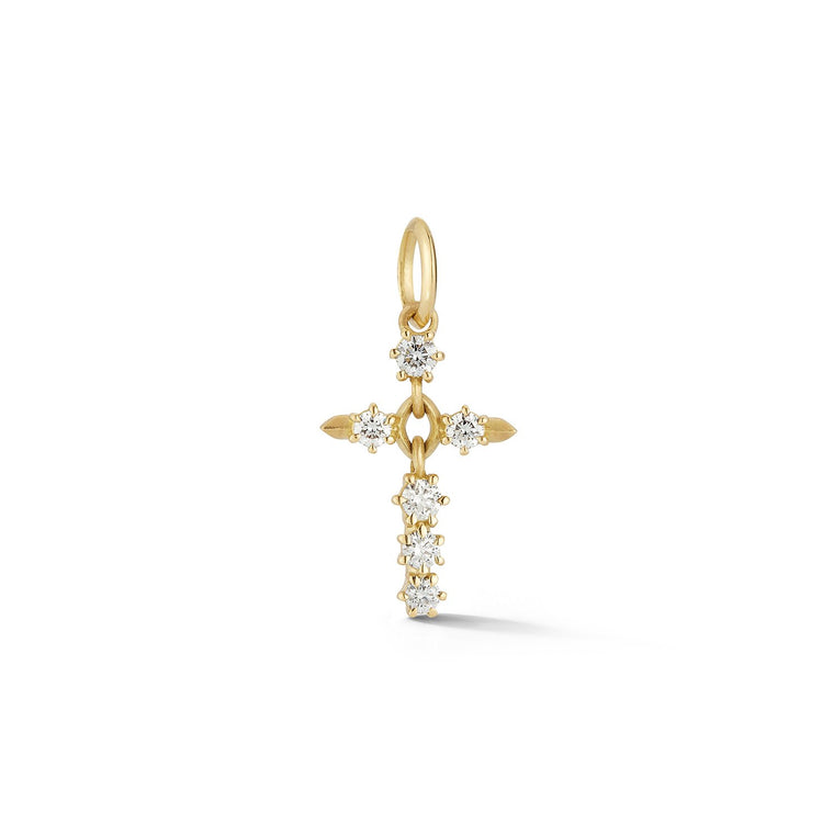 Diamond Cross Charm - Lesley Ann Jewels