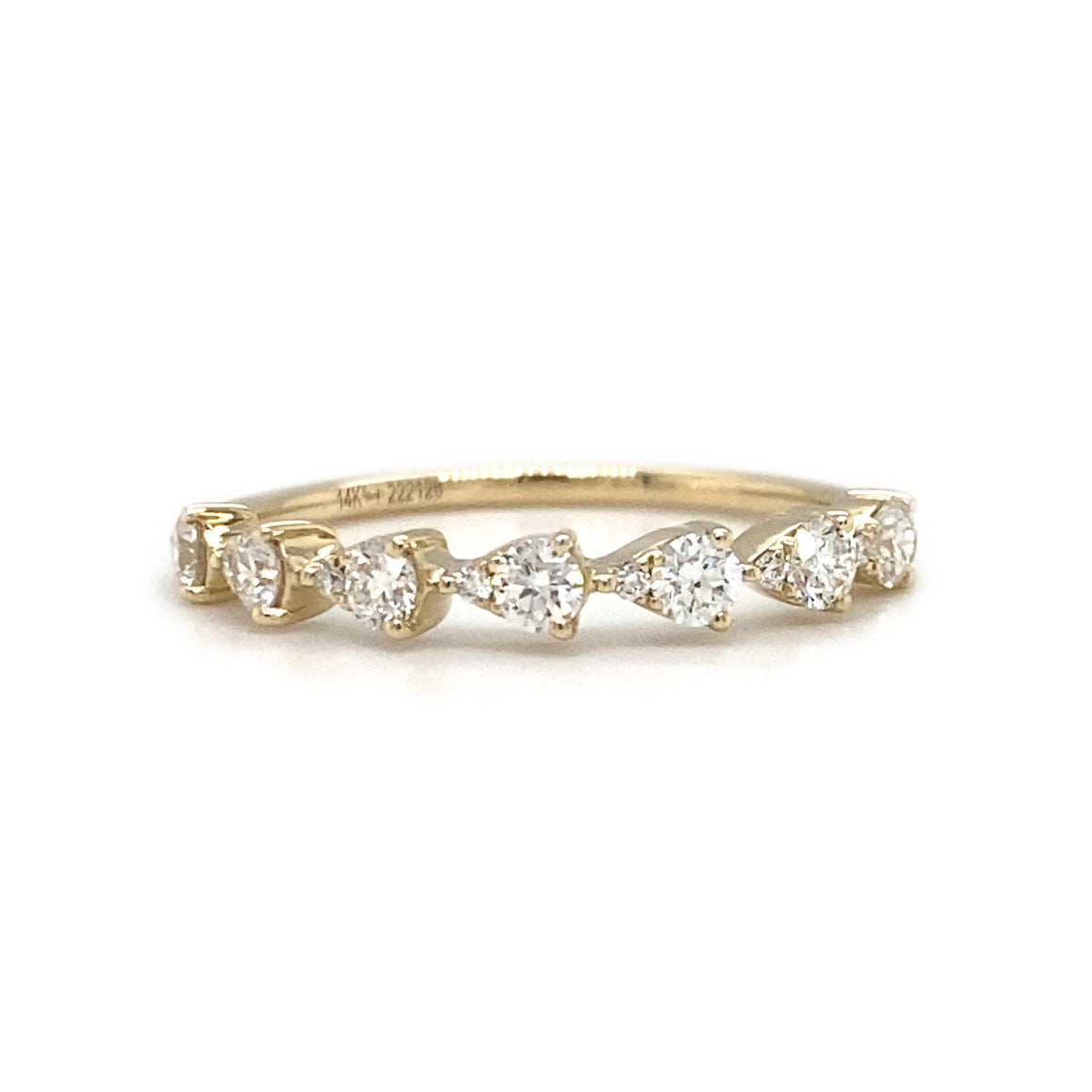 Pear Shape Diamond Bezel Stack Band