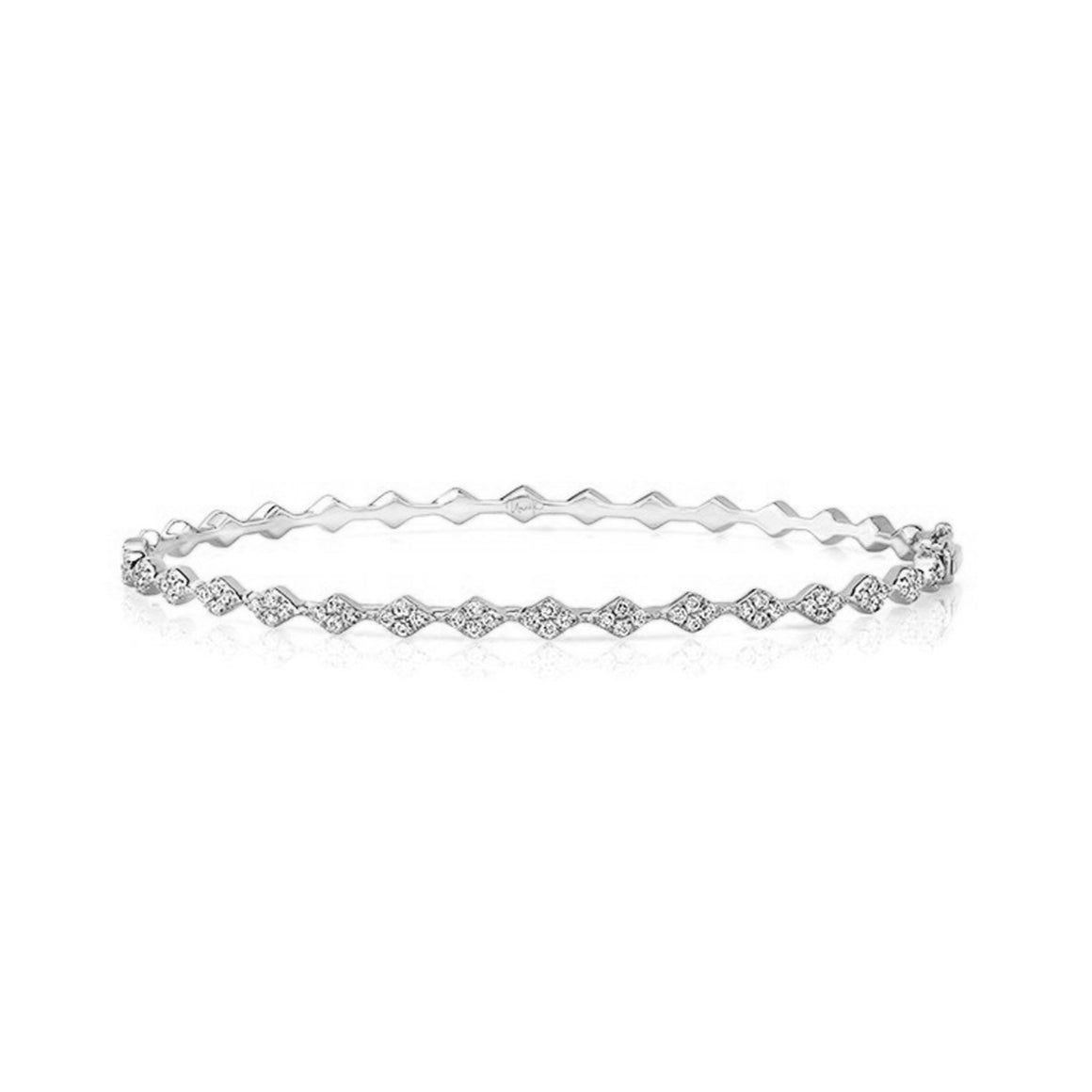 White Gold Tinseltown Bangle - Lesley Ann Jewels