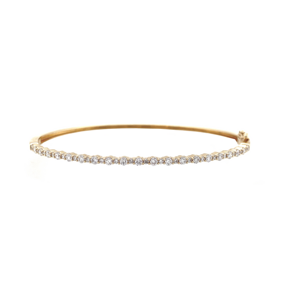 Thin Hinged Bangle - Lesley Ann Jewels