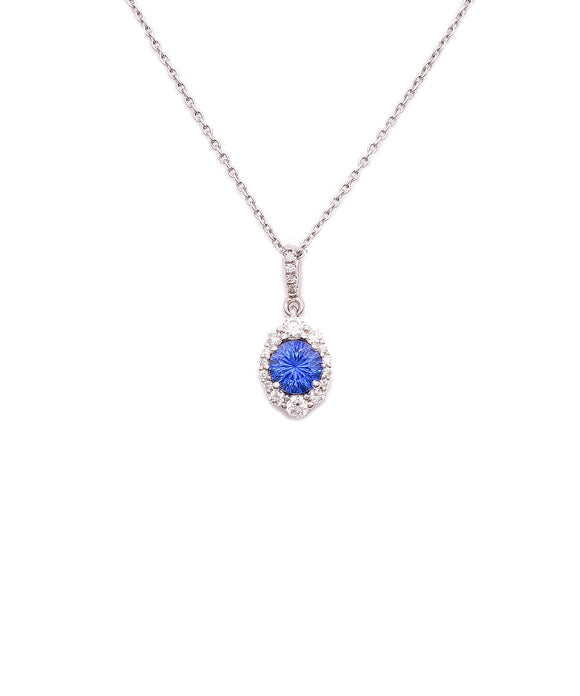 Sapphire and Diamond Pendant - Lesley Ann Jewels