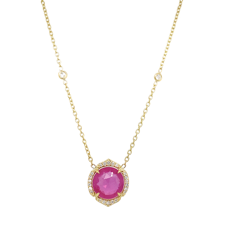 Pink Tourmaline Eyeglass Necklace - Lesley Ann Jewels