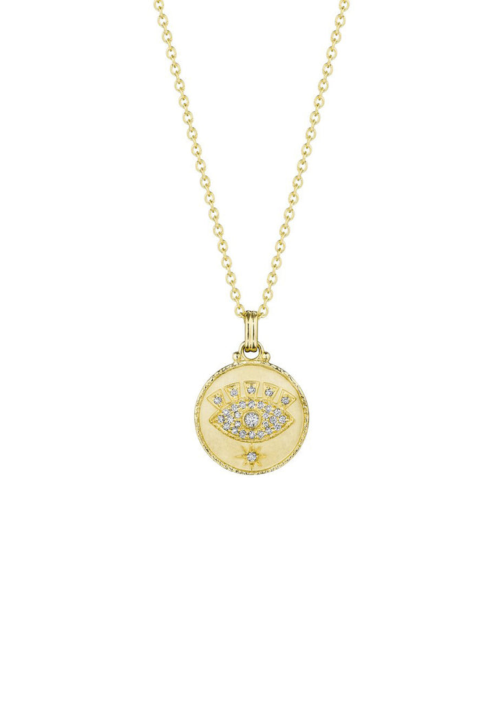 Diamond Evil Eye Pendant - Lesley Ann Jewels