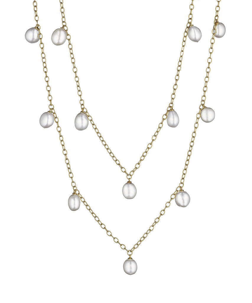 Dangling pearl necklace - Lesley Ann Jewels