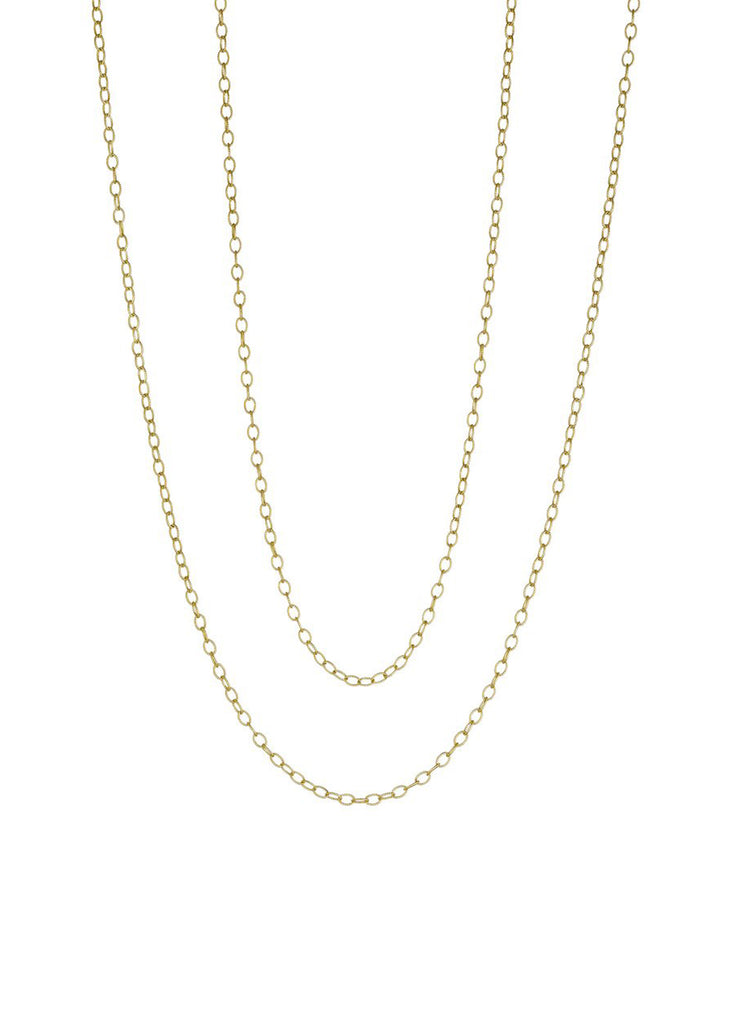 Yellow Gold Link Chain - Lesley Ann Jewels