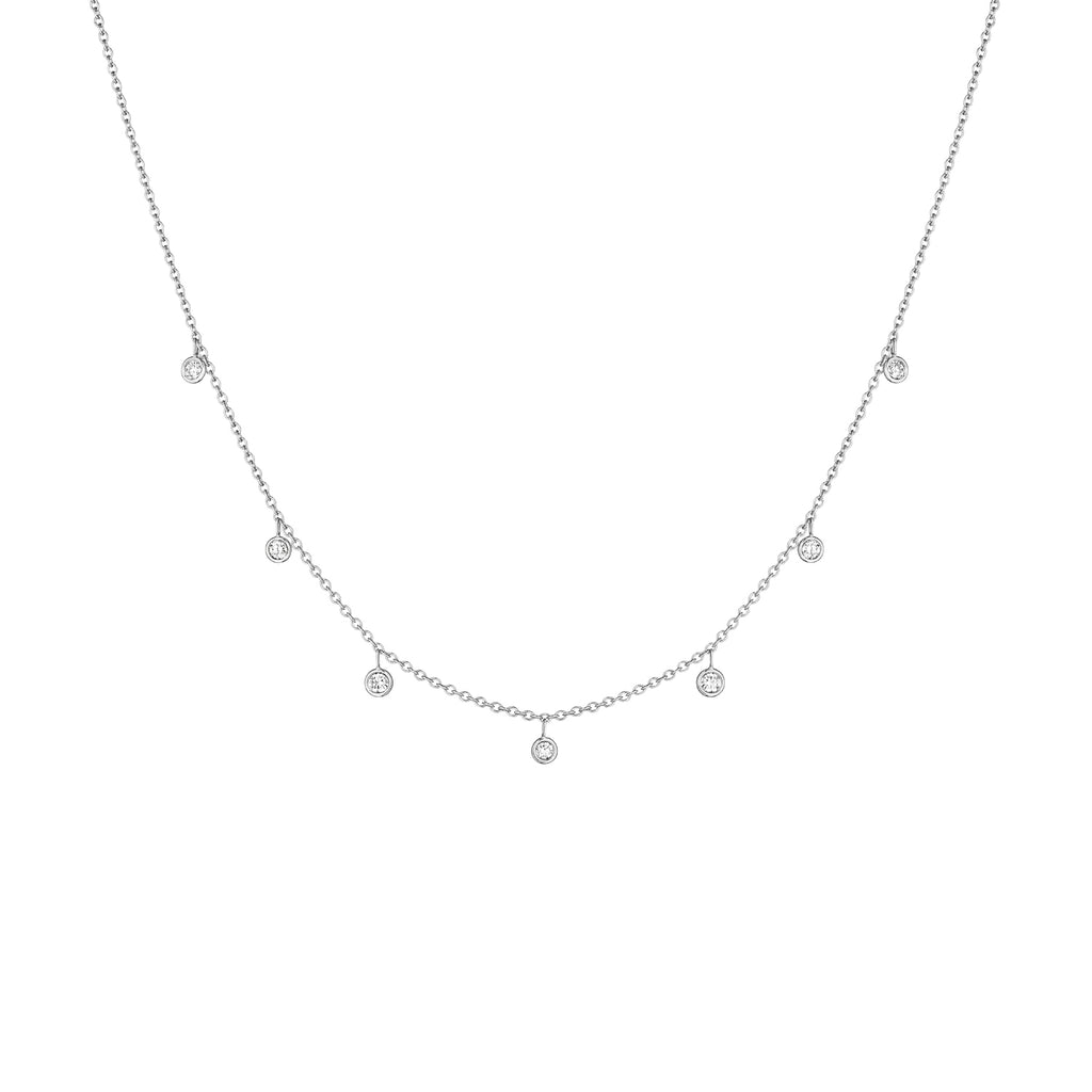 Diamond Drop Necklace - Lesley Ann Jewels