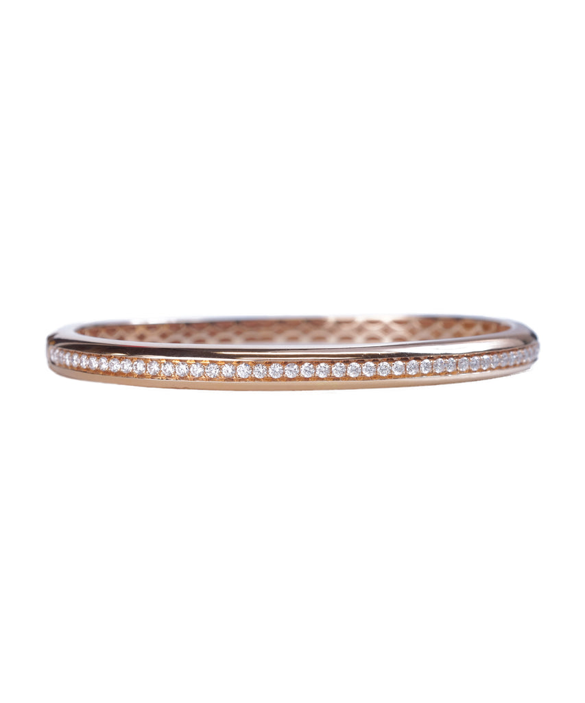 Rose gold diamond bangle bracelt