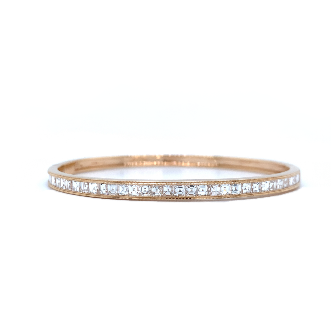 Diamond Hinged Bangle - Lesley Ann Jewels