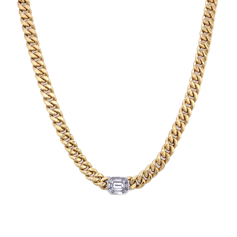 Diamond Link Necklace - Lesley Ann Jewels