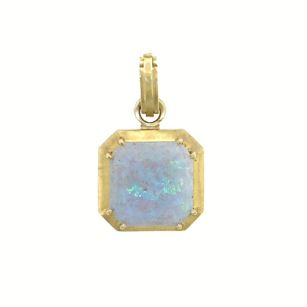 Cushion Opal Pendant - Lesley Ann Jewels