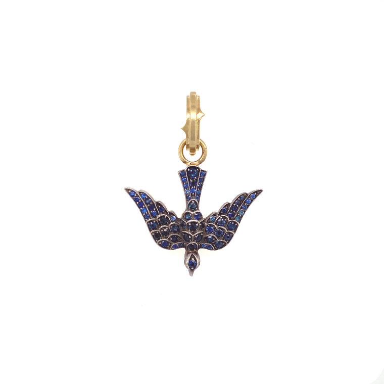 Blue Bird Pendant - Lesley Ann Jewels