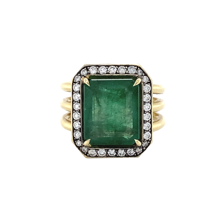 Brazilian Emerald Ring - Lesley Ann Jewels