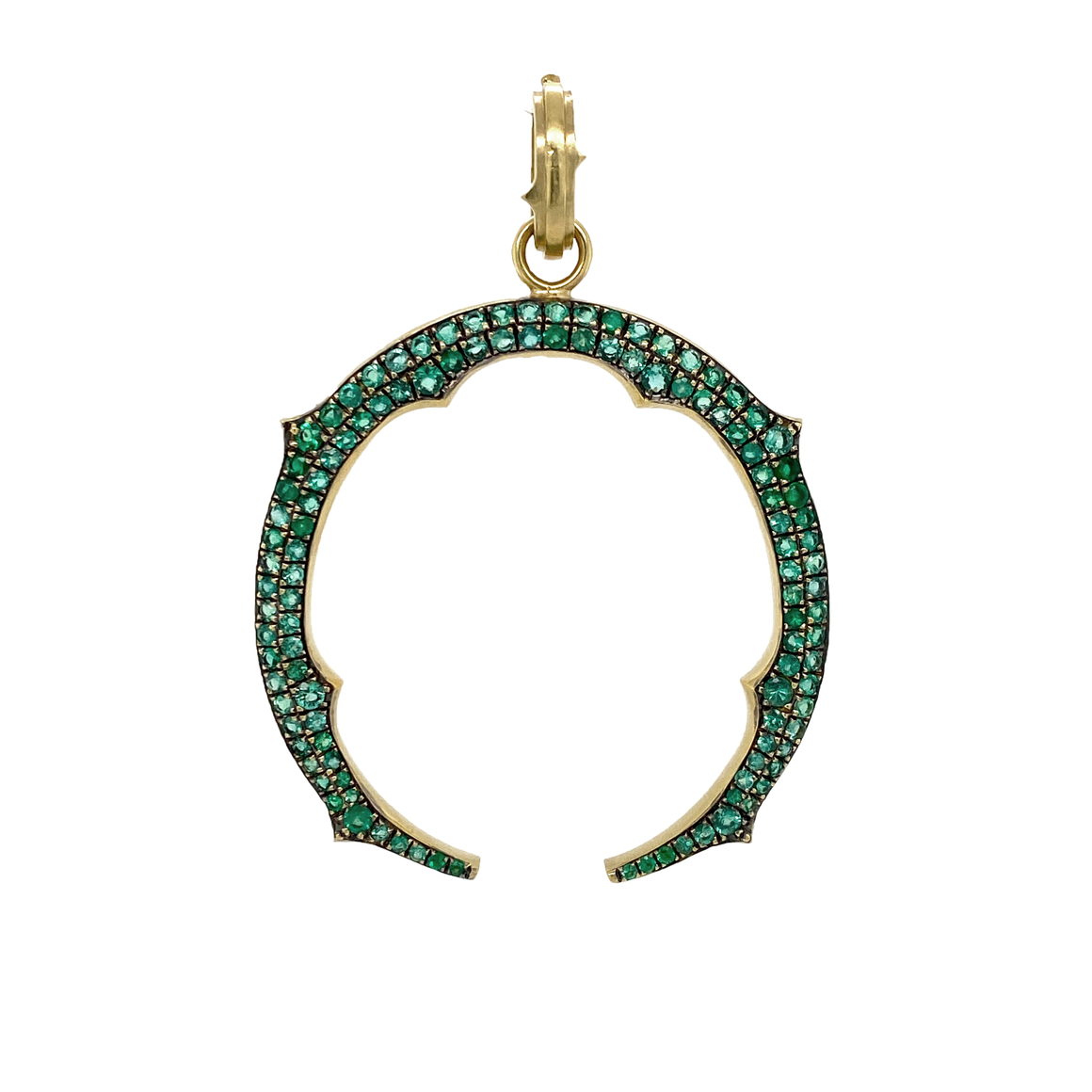 Emerald Horseshoe Pendant