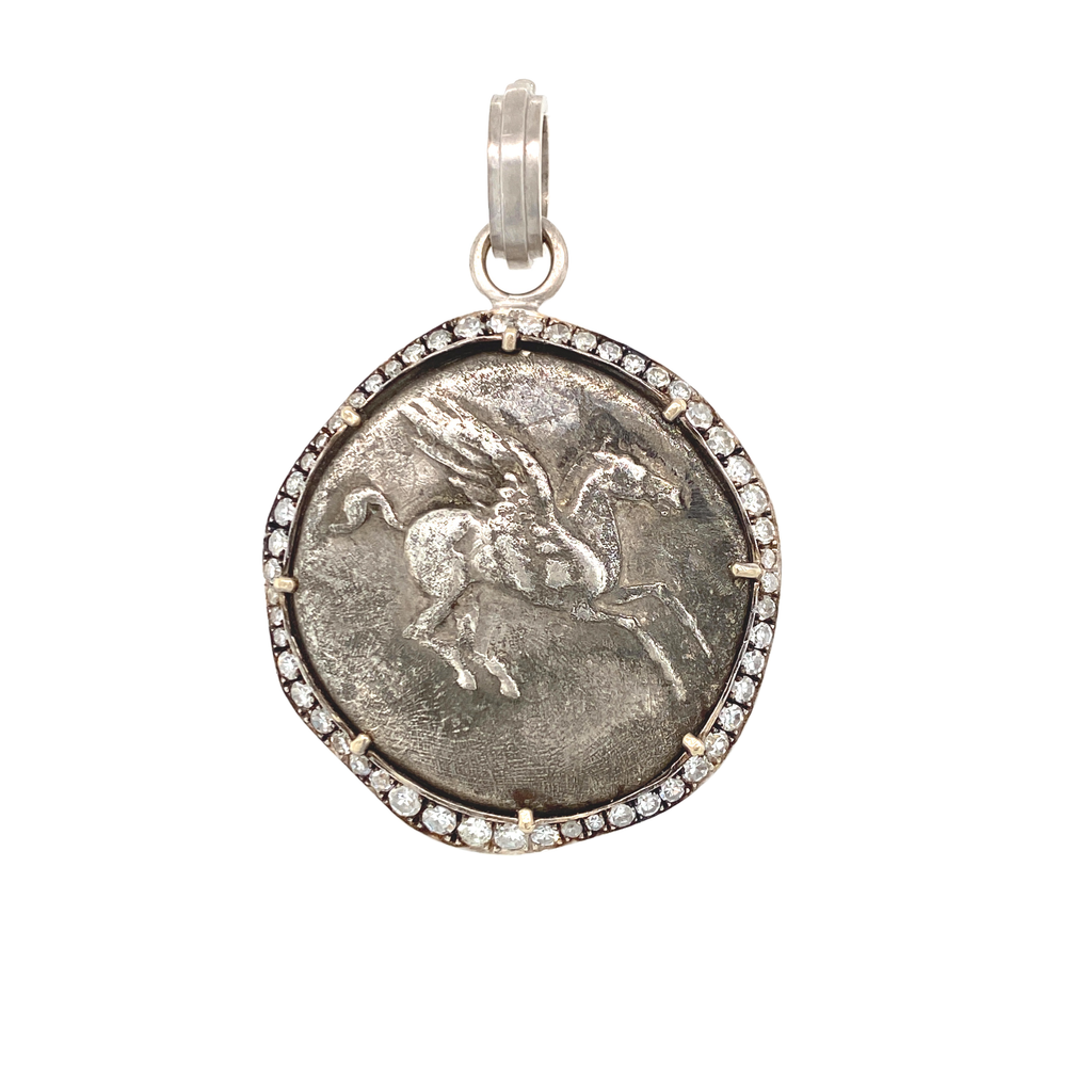 Ancient Greek Pegasus Coin - Lesley Ann Jewels