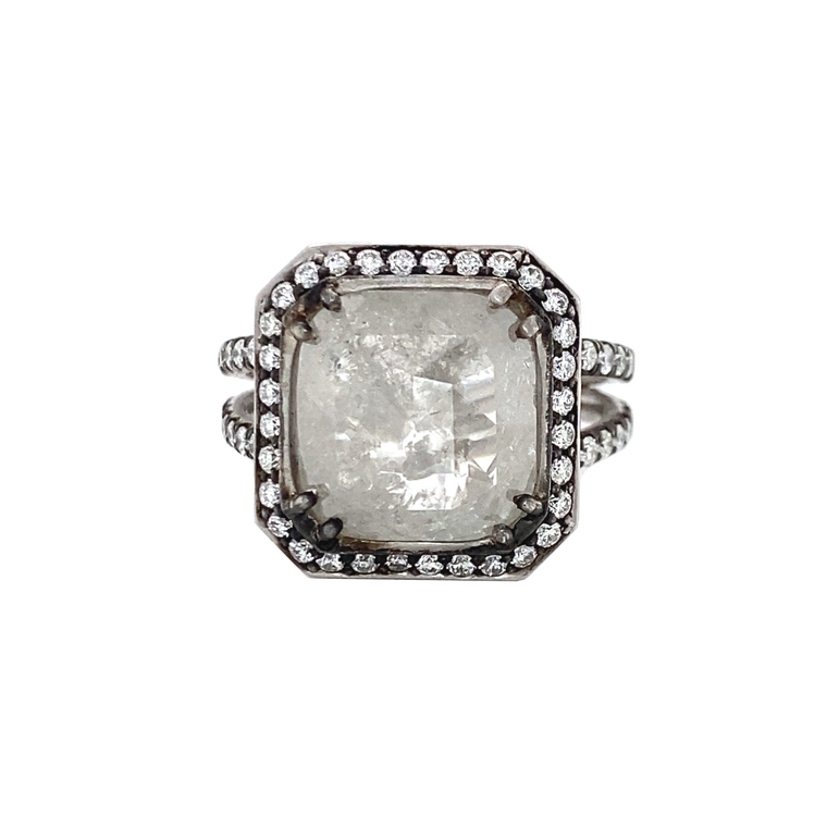 Rough Diamond Ring - Lesley Ann Jewels