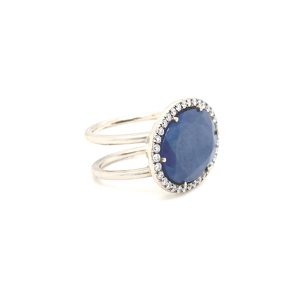 East to West Sapphire Ring - Lesley Ann Jewels
