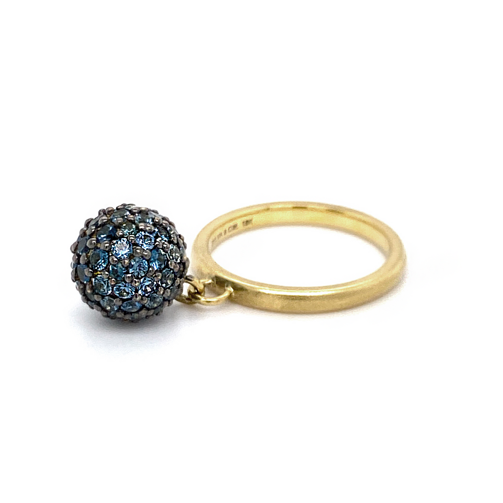 Small Sapphire Ball Ring - Lesley Ann Jewels