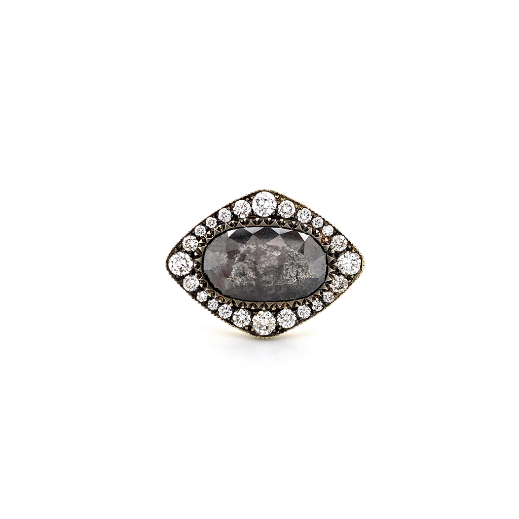 East to West Rough Diamond Ring - Lesley Ann Jewels
