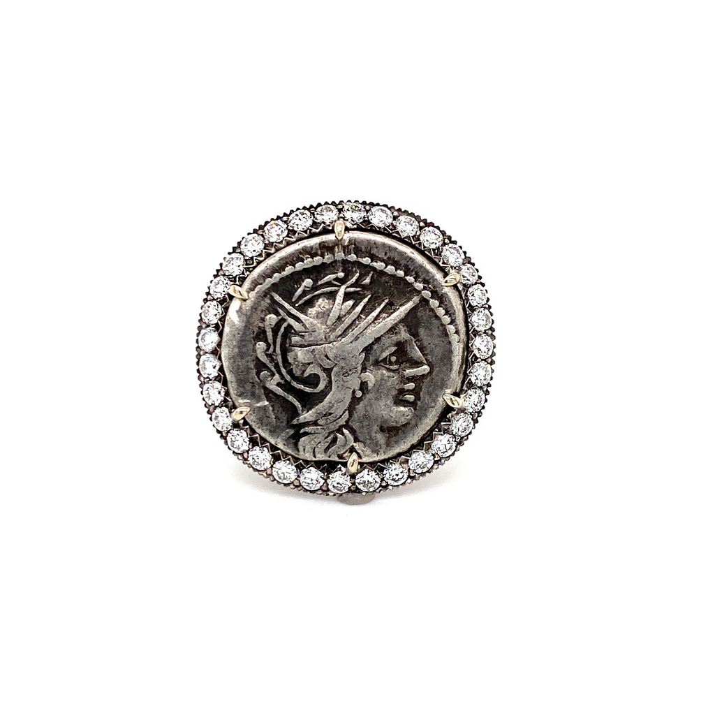 Ancient Denarius Coin Ring - Lesley Ann Jewels