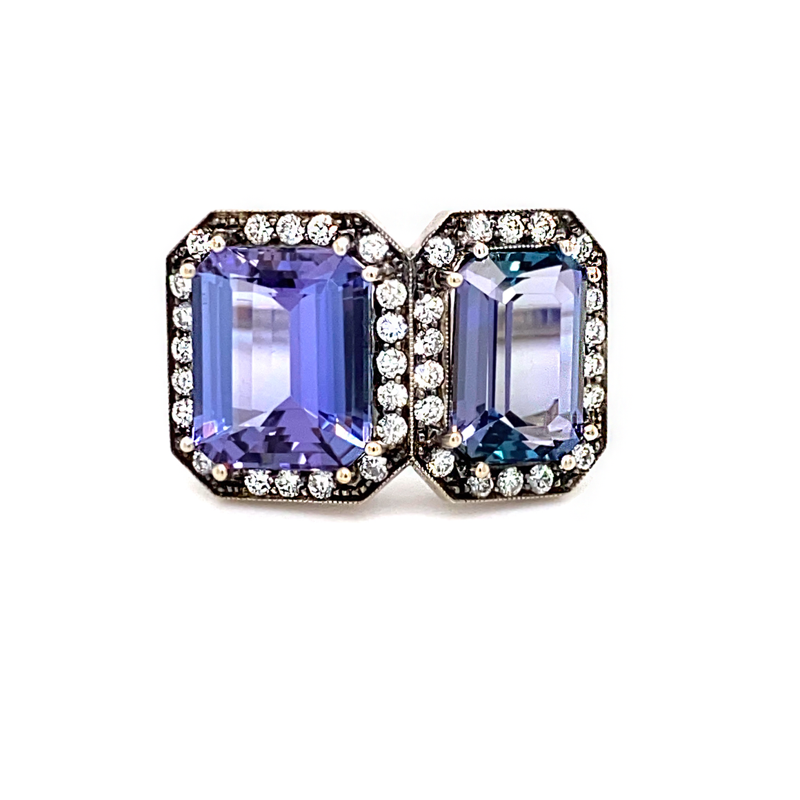 Double Tanzanite Ring - Lesley Ann Jewels