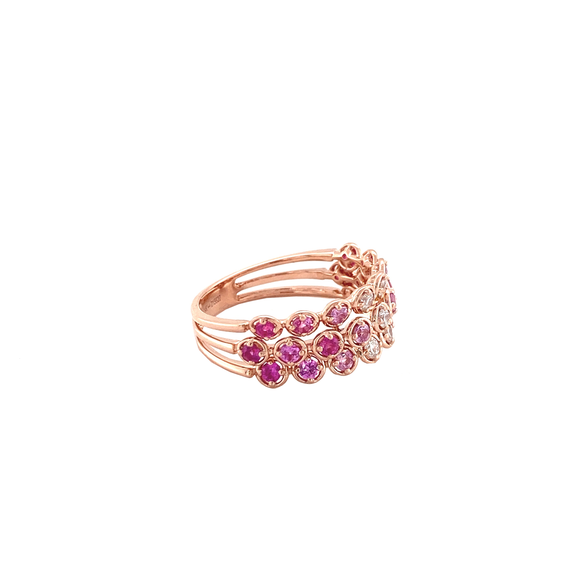 Ombre Pink Sapphire Band - Lesley Ann Jewels