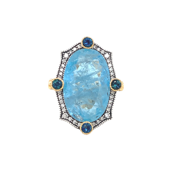 Indicolite Ring - Lesley Ann Jewels