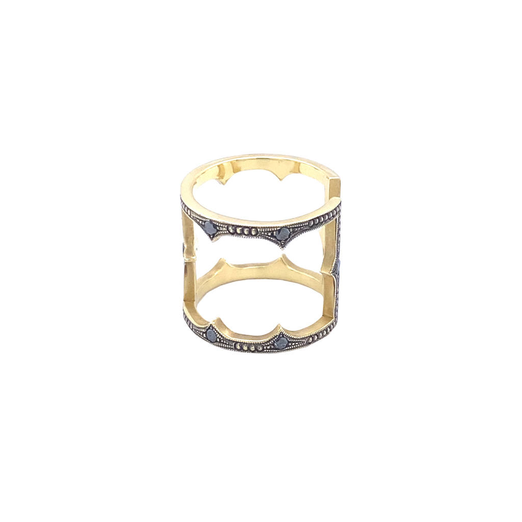 Fergi Cage Ring - Lesley Ann Jewels