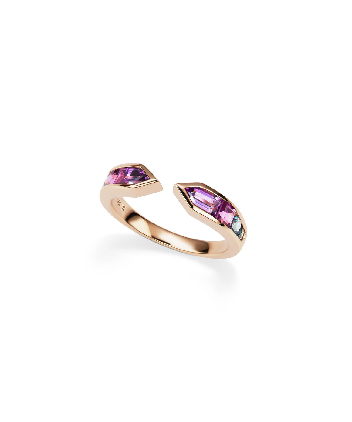 Arrow Ring with Amethyst and Topaz - Lesley Ann Jewels