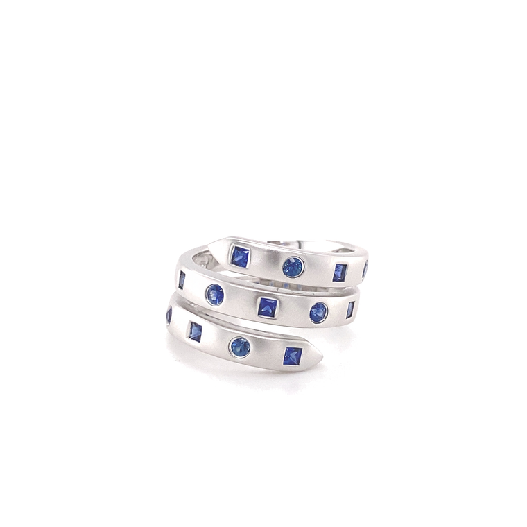 Blue Sapphire Wrap Ring - Lesley Ann Jewels