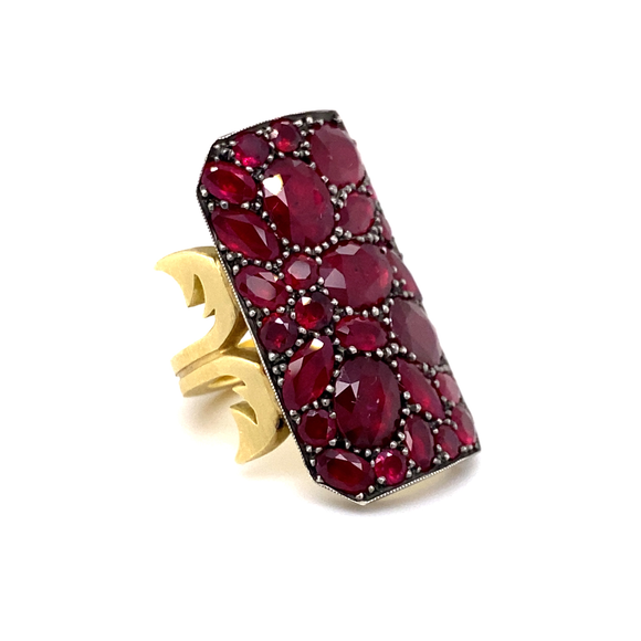 Ruby Ten Table Ring