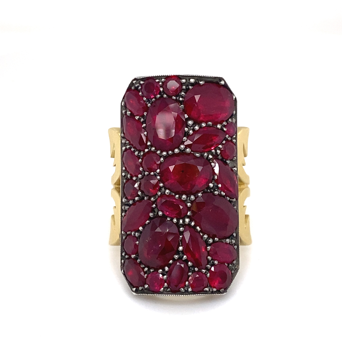 Ruby Ten Table Ring - Lesley Ann Jewels