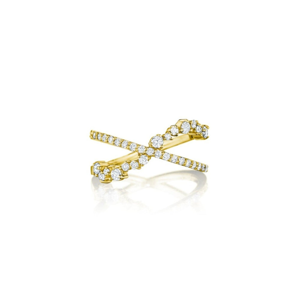 Stardust Criss Cross Ring - Lesley Ann Jewels