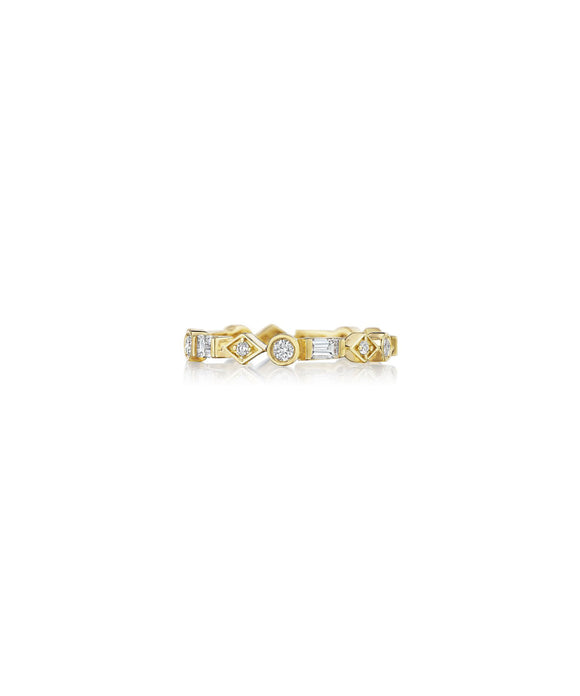 Mixed shape diamond eternity band