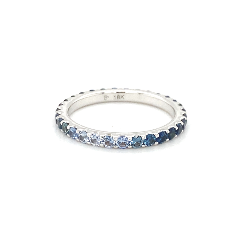 Ombre Blue Sapphire Eternity Band - Lesley Ann Jewels