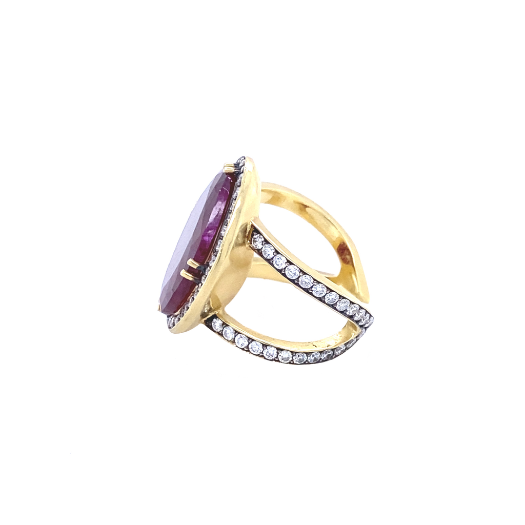 Mozambique Ruby Ring - Lesley Ann Jewels